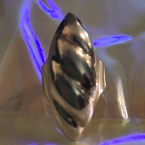 Unicorn horn sterling silver taxco ring huge shiny